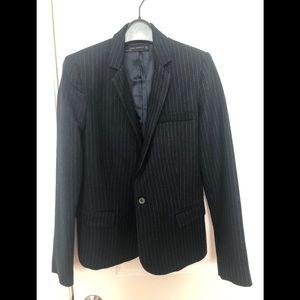 Brand new Zara blazer navy with strips
